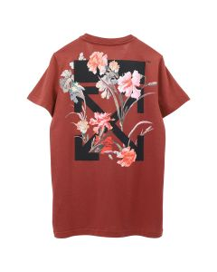 OFF-WHITE c/o Virgil Abloh WOMENS FLOWERS CARRYOVER CASUAL TEE / 2410 : BORDEAUX