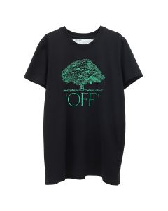 OFF-WHITE c/o Virgil Abloh WOMENS OFF TREE CASUAL TEE / 1040 : BLACK GREEN