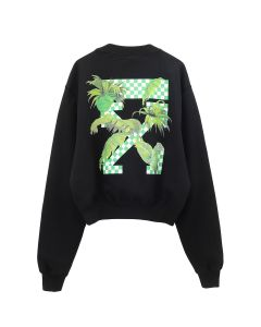 OFF-WHITE c/o Virgil Abloh WOMENS OFFWHITE RACING CREWNECK / 1040 : BLACK GREEN