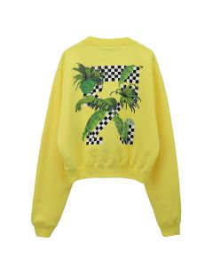 OFF-WHITE c/o Virgil Abloh WOMENS OFFWHITE RACING CREWNECK / 6010 : YELLOW BLACK