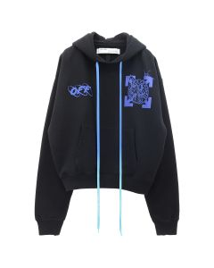 OFF-WHITE c/o Virgil Abloh MENS WIZARD AND CAT OVER HOODIE / 1030 : BLACK BLUE