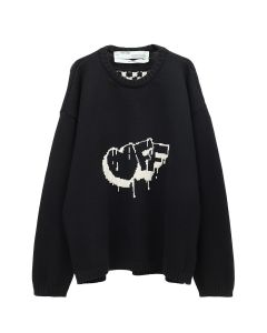 OFF-WHITE c/o Virgil Abloh WOMENS BUBBLE ARROW KNIT SWEATER / 1001 : BLACK WHITE