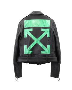 OFF-WHITE c/o Virgil Abloh WOMENS REGULAR BIKER / 1040 : BLACK GREEN
