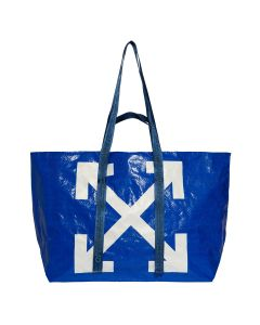 OFF-WHITE c/o Virgil Abloh WOMENS NEW COMMERCIAL TOTE / 3001 : BLUE WHITE