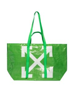 OFF-WHITE c/o Virgil Abloh WOMENS NEW COMMERCIAL TOTE / 4001 : GREEN WHITE