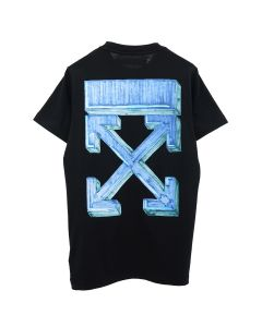 OFF-WHITE c/o Virgil Abloh MENS MARKER S/S SLIM TEE / 1045 : BLACK BLUE