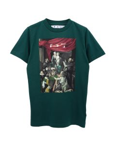 OFF-WHITE c/o Virgil Abloh MENS CARAVAG PAINTING S/S SLIM TEE / 5710 : DARK GREEN BLACK