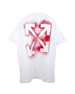 OFF-WHITE c/o Virgil Abloh MENS STENCIL S/S OVER TEE / 0125 : WHITE RED
