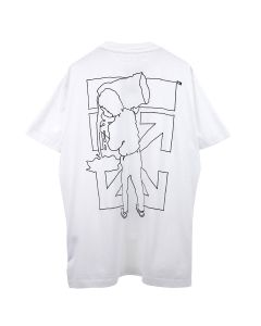 OFF-WHITE c/o Virgil Abloh MENS BARREL WORKER S/S OVER TEE / 0110 : WHITE BLACK