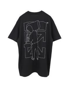 OFF-WHITE c/o Virgil Abloh MENS BARREL WORKER S/S OVER TEE / 1001 : BLACK WHITE