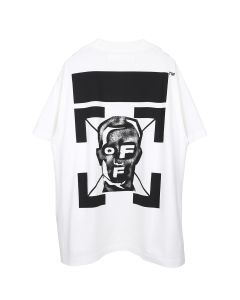 OFF-WHITE c/o Virgil Abloh MENS MASKED FACE S/S OVER TEE / 0110 : WHITE BLACK