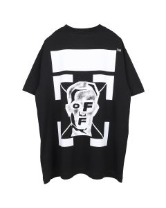 OFF-WHITE c/o Virgil Abloh MENS MASKED FACE S/S OVER TEE / 1001 : BLACK WHITE
