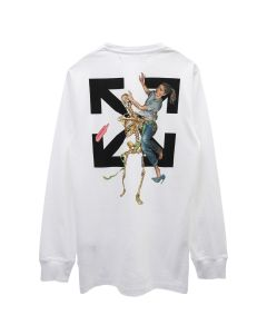 OFF-WHITE c/o Virgil Abloh MENS PASCAL SKELETON L/S TEE / 0110 : WHITE BLACK