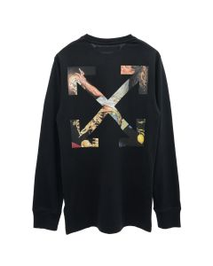 OFF-WHITE c/o Virgil Abloh MENS PASCAL ARROW L/S TEE / 1001 : BLACK WHITE