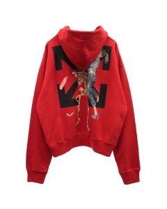 OFF-WHITE c/o Virgil Abloh MENS PASCAL SKELETON OVER HOODIE / 2510 : RED BLACK