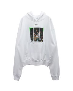 OFF-WHITE c/o Virgil Abloh MENS PASCAL PRINT OVER HOODIE / 0155 : WHITE GREEN