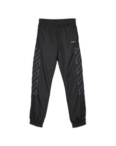 OFF-WHITE c/o Virgil Abloh MENS DIAG NYLON TRACKPANT / 1040 : BLACK LIGHT BLUE