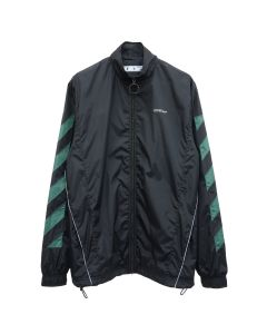 OFF-WHITE c/o Virgil Abloh MENS DIAG NYLON JACKET / 1001 : BLACK WHITE
