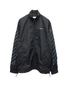 OFF-WHITE c/o Virgil Abloh MENS DIAG NYLON JACKET / 1040 : BLACK LIGHT BLUE