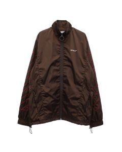 OFF-WHITE c/o Virgil Abloh MENS DIAG NYLON JACKET / 6025 : BROWN RED