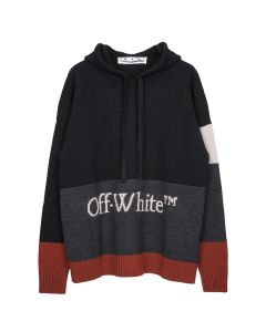 OFF-WHITE c/o Virgil Abloh MENS COLOR BLOCK OFF HOODIE / 1001 : BLACK WHITE