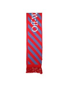 OFF-WHITE c/o Virgil Abloh MENS OFF WHITE TM SCARF / 2509 : RED GREY
