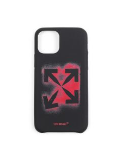 OFF-WHITE c/o Virgil Abloh MENS STENCIL IPHONE 11 PRO COVER / 1025 : BLACK RED