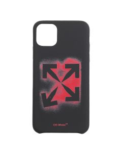 OFF-WHITE c/o Virgil Abloh MENS STENCIL IPHONE 11 PRO MAX COVER / 1025 : BLACK RED