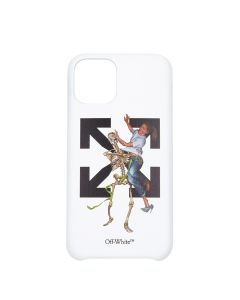 OFF-WHITE c/o Virgil Abloh MENS PASCAL SKEL IPHONE 11 PRO COVER / 0140 : WHITE LIGHT BLUE