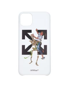 OFF-WHITE c/o Virgil Abloh MENS PASCAL SKEL IPHONE 11 PRO MAX COVER / 0140 : WHITE LIGHT BLUE