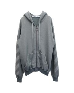 OFF-WHITE c/o Virgil Abloh WOMENS ARROW ZIPPED HOODIE / 0808 : GREY GREY
