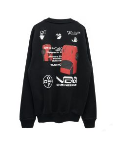 OFF-WHITE c/o Virgil Abloh WOMENS CARS TEE COLLECTION CREWNECK / 1001 : BLACK WHITE