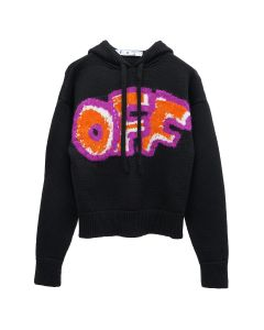 OFF-WHITE c/o Virgil Abloh WOMENS OFF GRAFFITI HOODIE / 1020 : BLACK ORANGE