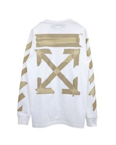 OFF-WHITE c/o Virgil Abloh MENS TAPE ARROWS L/S TEE / 0148 : WHITE BEIGE