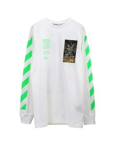 OFF-WHITE c/o Virgil Abloh MENS PASCAL PAINTING L/S TEE / 0188 : WHITE MULTICOLOR