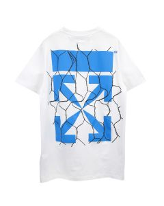 OFF-WHITE c/o Virgil Abloh MENS FENCE ARROW S/S SLIM TEE / 0130 : WHITE BLUE