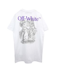 OFF-WHITE c/o Virgil Abloh MENS PENCIL KISS S/S SLIM TEE / 0188 : WHITE MULTICOLOR