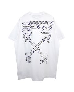 OFF-WHITE c/o Virgil Abloh MENS AIRPORT TAPE S/S OVER TEE / 0188 : WHITE MULTICOLOR