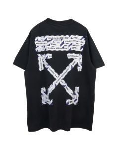 OFF-WHITE c/o Virgil Abloh MENS AIRPORT TAPE S/S OVER TEE / 1088 : BLACK MULTICOLOR
