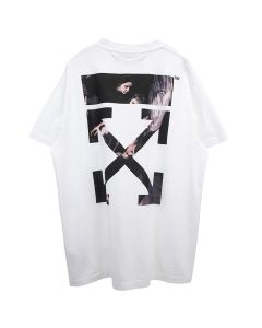 OFF-WHITE c/o Virgil Abloh MENS CARAVAGGIO ARROW S/S OVER TEE / 0188 : WHITE MULTICOLOR