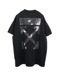 OFF-WHITE c/o Virgil Abloh MENS CARAVAGGIO ARROW S/S OVER TEE / 1088 : BLACK MULTICOLOR