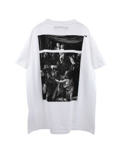 OFF-WHITE c/o Virgil Abloh MENS CARAVAGGIO SQUARE S/S OVER TEE / 0188 : WHITE MULTICOLOR
