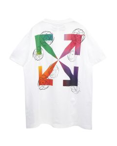 OFF-WHITE c/o Virgil Abloh MENS FUTURA ATOMS S/S OVER TEE / 0188 : WHITE MULTICOLOR