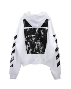 OFF-WHITE c/o Virgil Abloh MENS CARAVAGGIO SQUARE OVER HOODIE / 0188 : WHITE MULTICOLOR