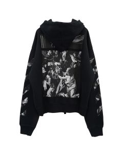 OFF-WHITE c/o Virgil Abloh MENS CARAVAGGIO SQUARE OVER HOODIE / 1088 : BLACK MULTICOLOR