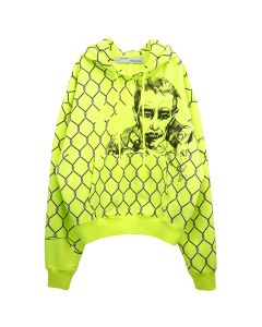 OFF-WHITE c/o Virgil Abloh MENS BROKEN FENCE OVER HOODIE / 6210 : FLUO YELLOW BLACK
