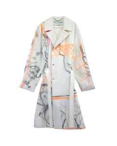 OFF-WHITE c/o Virgil Abloh MENS FUTURA TRENCH / 0188 : WHITE MULTICOLOR