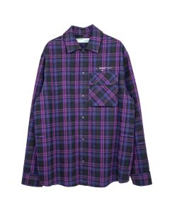 OFF-WHITE c/o Virgil Abloh MENS FLANNEL CHECK SHIRT / 2901 : VIOLET WHITE
