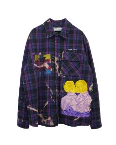OFF-WHITE c/o Virgil Abloh MENS EV FLANNEL CHECK SHIRT / 2988 : VIOLET MULTICOLOR