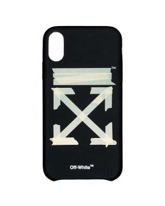 OFF-WHITE c/o Virgil Abloh MENS TAPE ARROWS IPHONE XS MAX COVER / 1048 : BLACK BEIGE